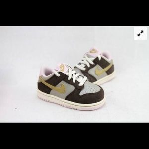 NIKE LITTLE DUNK LOW (TD) TODDLER SNEAKERS SIZE 4C